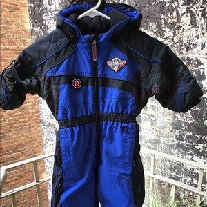 ☃️SOLD⛄️Obermeyer Sz.1 I-Grow Zip Front SnowSuit